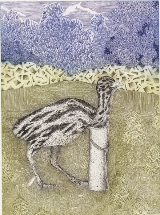 GRACIA & LOUISE HABY & JENNISON Grande Perspective in the memory of a swan