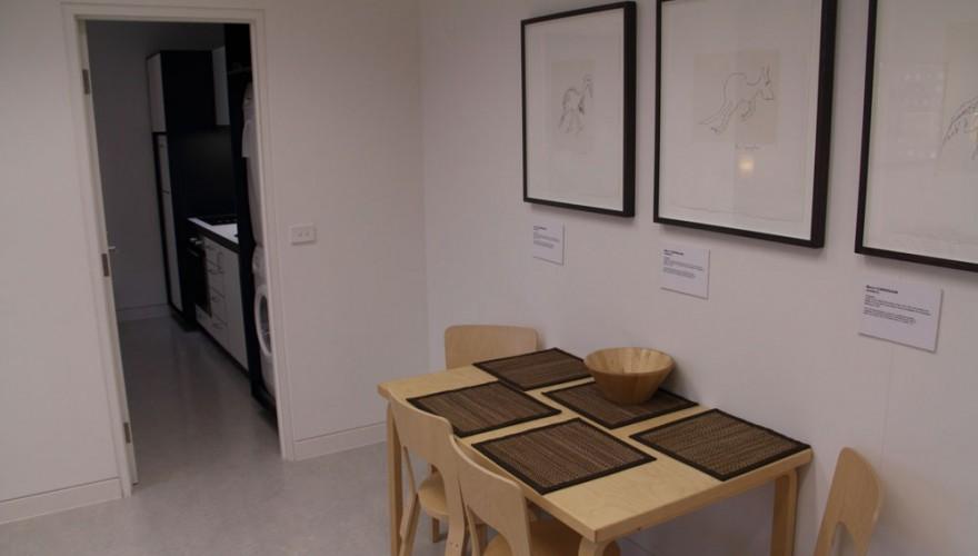 Artist apartment dining area